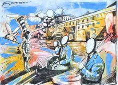 "Saatchi Art Artist Misha Dontsov; Painting, ""Run Away with the Circus"" #art"