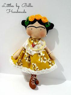 Frida Kahlo muñeca Tilda hijos Frida Kahlo decoración muñeca
