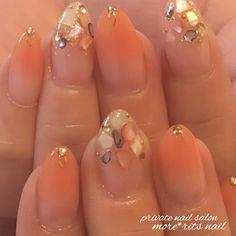 夏/梅雨/ハンド/シンプル/ビジュー - 高崎市MORE*RiTSNAILのネイルデザイン[No.3174994]|ネイルブック Pretty Nail Designs, Simple Nail Art Designs, Easy Nail Art, Mani Pedi, Nail Manicure, Gel Nails, Gorgeous Nails, Pretty Nails, Unicorn Nails