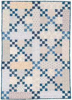 Big Boy Blue baby quilt by Nancy J. Martin.