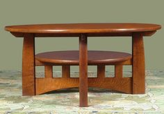 The Coffee Table is made from quartersawn oak with dark beechnut brown finish.