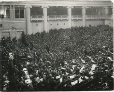 Reunión de los diputados de los soldados en el Palacio de Tauride, marzo de 1917, Petrogrado