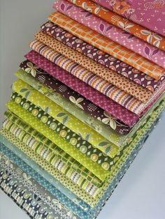 I would love to make a herringbone quilt with this. Denyse Schmidt's Hope Valley Collection