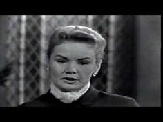 """Frances Farmer: This Is Your Life (Part One) (1958).  The only episode of this long running show where the subject (Frances) was not """"surprised,"""" due to her mental health history.  Frances considered this one of the most humiliating experiences of her life."""