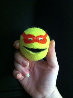 TMNT button eater! #occupationaltherapy #craftideas #tennisball