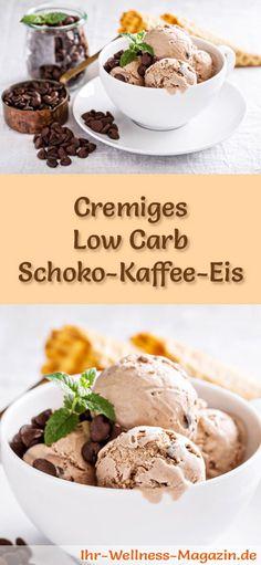 Rezept für Low Carb Schoko-Kaffee-Eis - ein einfaches Eisrezept für kalorienreduzierte, kohlenhydratarme und gesunde Eiscreme ohne Zusatz von Zucker ...