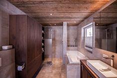 Gesamtkonzept Wohnung G. - Innenarchitektur by Kotrasch Alcove, Bathtub, Bathroom, Condo Interior Design, Carpentry, Old Wood, Bathing, Standing Bath, Washroom