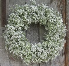 babys breath wreath . Could use in winter ?