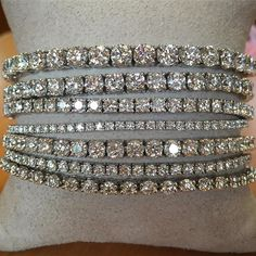Today do more of what makes you sparkle! #sparkle #diamondbracelets #tennisbracelets #brombergsjewelry #happysaturday