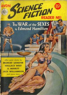 Old science fiction pulp magazine, so this is where they got the idea for Zapp Brannigan. Lol