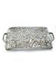 1908dc50cf03 Centro de mesa - bandeja de decoración con figuras de jirafas en el fondo  en relieve