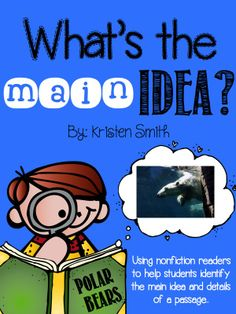 Perfect for helping students find the main idea and details in a text!