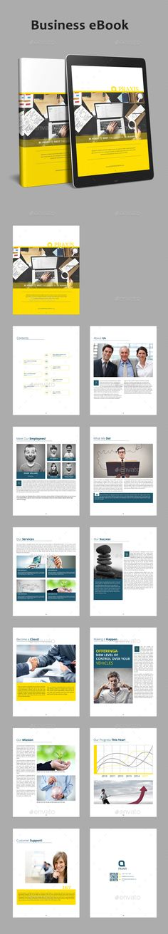 #Business eBook - #ePublishing Download here: https://graphicriver.net/item/business-ebook/19188443?ref=alena994