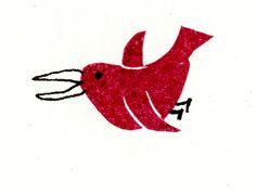 a Stamp a Day: red bird