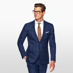 As seen on GQ.COM's best patterned suits to wear this fall: The Havana blue check. #SUITSUPPLY #GQrecommends #GQ