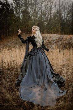 In Stock Free cape/Jewelry Gothic Princess Wedding or Costume Bridal Gowns, Wedding Gowns, Fantasy Gowns, Gothic Wedding, Foto Pose, Silver Dress, Princess Wedding, Poses, Chiffon