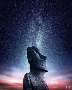 HD wallpaper: gray concrete statue, starry night, stars, Milky Way, Easter Island Landscape Photography, Nature Photography, Photography Ideas, Travel Photography, Photography Flowers, Ciel Nocturne, Foto Art, Milky Way, Night Skies