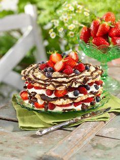 Recept glutenfri tårta med bär