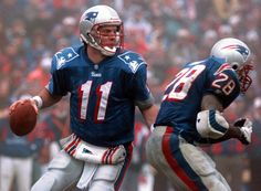 Patriots Game, New England Patriots Football, Nfl Football Players, Sport Football, Wvu Sports, Soccer, American Football League, National Football League, Drew Bledsoe