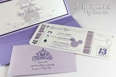 Disney Wedding Invitations by InspirationsbyAmieLe on Etsy