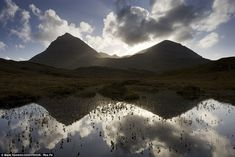 A moorland pool in the Assynt Mountains and the Scottish Highlands