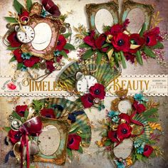 Timeless Beauty Cluster Set - $1.99 : Raspberry Road Designs
