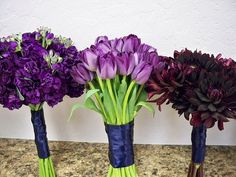 purple bridesmaids flowers | Purple Bridesmaid Bouquets | Flickr - Photo Sharing!