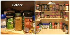 Looking for a way to organize your spices? How cool is this? I have small kitchen cabinets that I'm limit on space. I might have to buy this myself!...Look at this shelving system that was designed by Dedee! She just started the Spicy Shelf and she sells these awesome little shelves that help organize your cabinets.