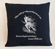 When Witches Go Riding Customizable Pillow Cover by SheBellaBirk on Etsy
