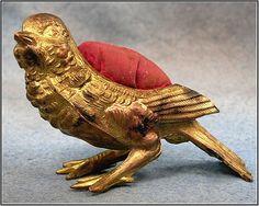Vintage bird pincushion