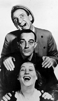 Polly Moran, Buster Keaton and Jimmy Durante