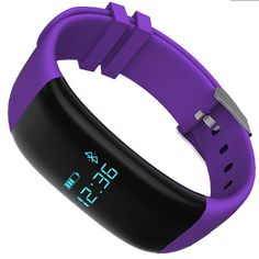 Mynike Fitness Tracker Waterproof Smart Bracelet Heart Rate Monitor Wristband Pedometer Step Walking Distance Calorie Counter Smart Watch Fitness Tracker for iOS Android Smartphone (Purple) -- Read more reviews of the product by visiting the link on the image.