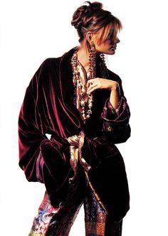Paulina Porizkova in Vogue 1989