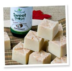 Maple Coconut Refrigerator Fudge (1/2c ea coconut butter and butter, 1tsp maple extract and 1/2-1tsp stevia drops)
