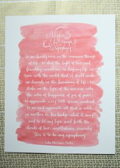 Alpha Chi Omega Symphony Calligraphy Print by rileywritesscout