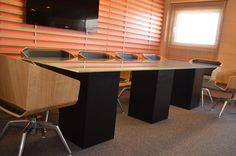 Corner Desk, Conference Room, Studio, Interior, Table, Furniture, Design, Home Decor, Corner Table