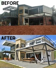 Building A Container Home, Container Buildings, Container Architecture, Architecture Design, Shipping Container Home Designs, Shipping Containers, Masonry Construction, Future House, Building A House