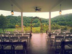 Ceremony set up at Hollow Brook Golf Club