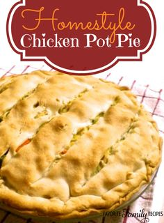 This is my favorite chicken pot pie. It is STUFFED with chicken and veggies, the flavor is incredible! #chickenpotpie #potpie
