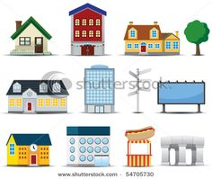 Stock Vector Illustration:  Vector Buildings Icon
