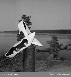 Ett par skor från Oscaria Skofabrik, 1964. Foto: Knut Borg