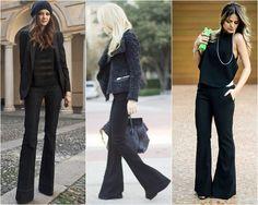 Calça flare é tendência de moda para o inverno 2015, veja dicas e fotos de como usar.
