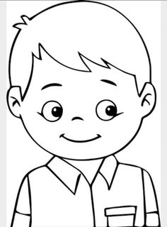 Art Drawings For Kids, Disney Drawings, Drawing For Kids, Easy Drawings, Art For Kids, Coloring Sheets, Coloring Pages, Colouring, Boy Illustration