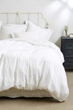 bedding - Soft-Washed Linen Duvet - anthropologie.com $288