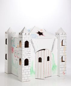 Take a look at this Adventure Castle Playhouse by Crafty Kids Playhouses on today! Kids can decorate it however they want :) Toddler Playhouse, Castle Playhouse, Crafty Kids, Toddler Fun, Kid Spaces, Room Themes, Coloring For Kids, Play Houses, Kids Playing