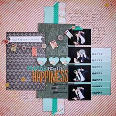 Scrapbook Starting Points :: Four Small Photos - scrapbook page by shimelle laine @ shimelle.com