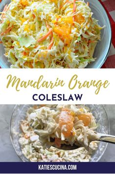Switch up the traditional coleslaw recipe you bring to barbecue's this summer, and make my Mandarin Orange Coleslaw for the next party you attend! This coleslaw is made in just 10 minutes time using 7 ingredients. #coleslaw #bbqrecipes #sidedish Summer Recipes, Great Recipes, Barbecue Sides, Cookout Side Dishes, Coleslaw Mix, Those Recipe, Food Allergies, International Recipes, Salads