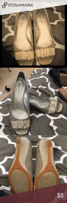 Nickels cream heels Cream wedge heels Nickels Shoes Heels