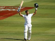 Faf du Plessis (SA) 110* celebrates debut century, vs Australia, 2nd Test, Adelaide, 5th day, November 26, 2012