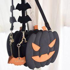 Morning Glory [Jack-o'-lantern] Halloween Pumpkin Lolita Crossbody Bag